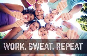 Work! Sweat!