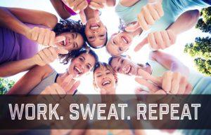 Work! Sweat!